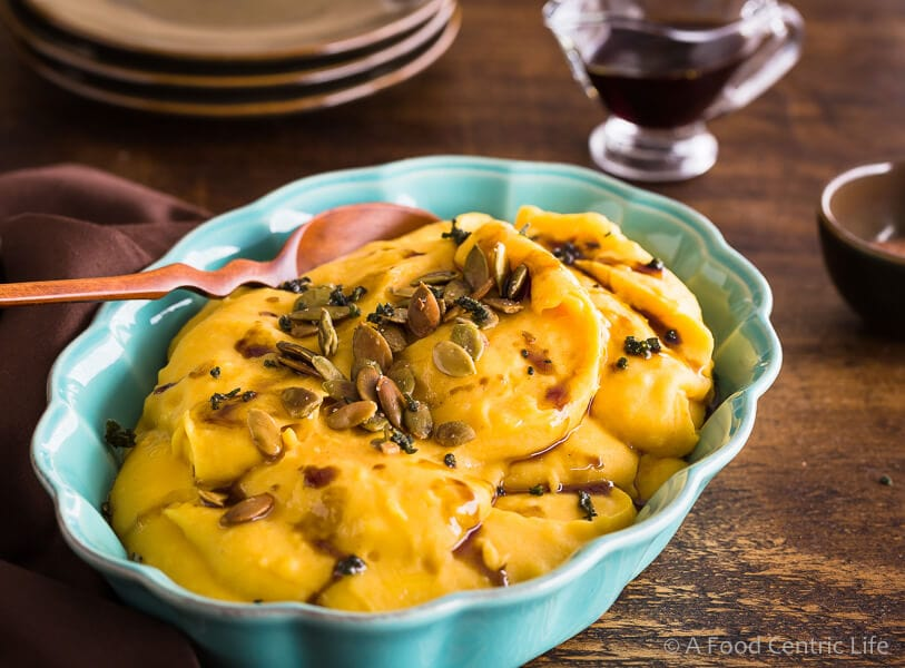 pumpkin mashed potatoes | AFoodCentricLife.com