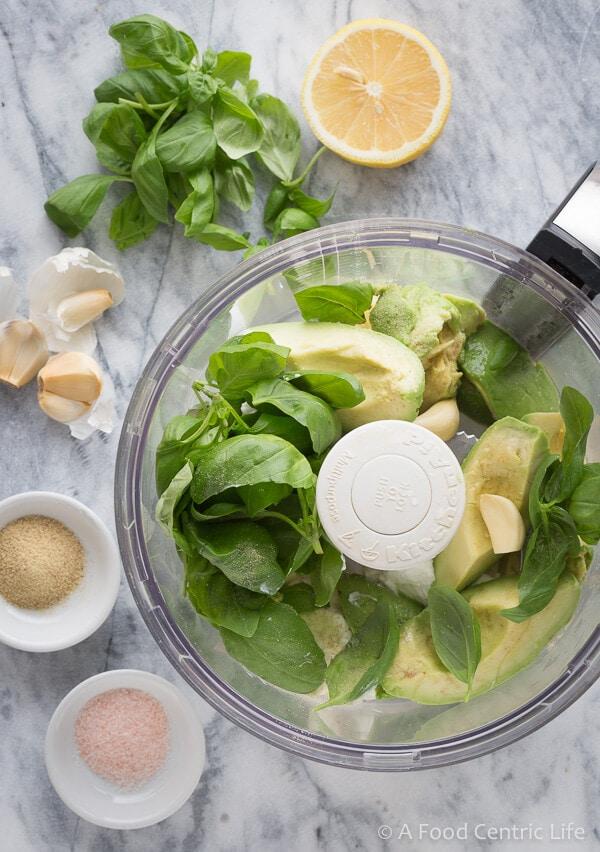 avocado basil dip|AFoodCentricLife.com