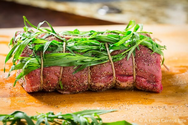 Beef Tenderloin with Tarragon|AFoodCentricLife.com