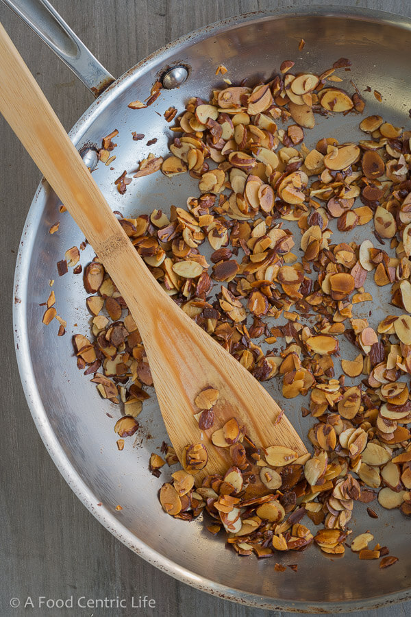 Sauteed almonds|AFoodCentricLife.com