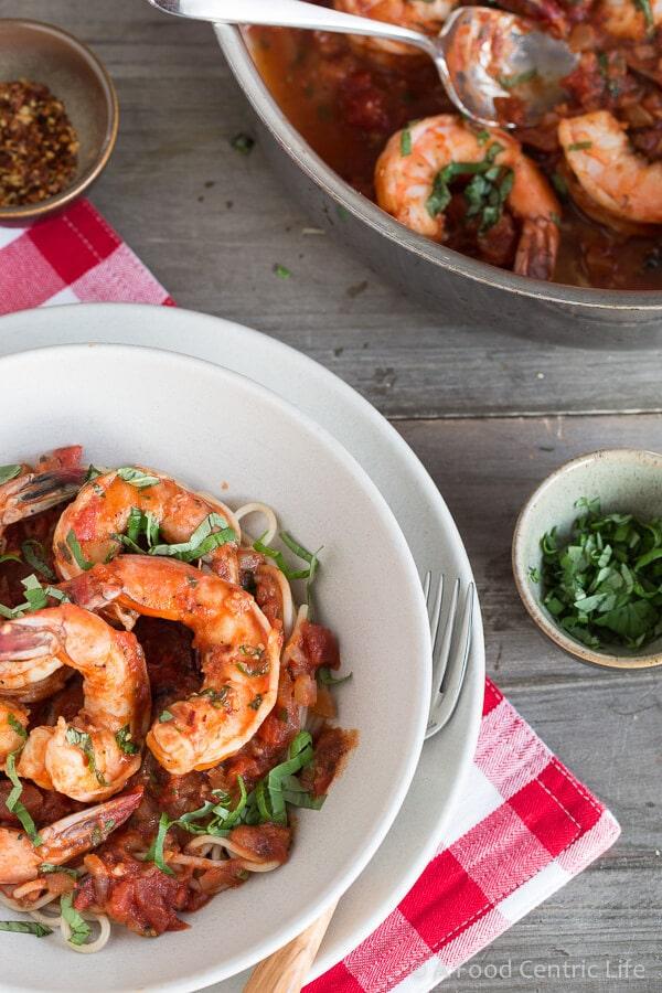 Shrimp Fra Diavolo|AFoodCentricLife.com
