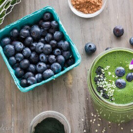 Superfood Blueberry Green Smoothie | AFoodCentricLife.com