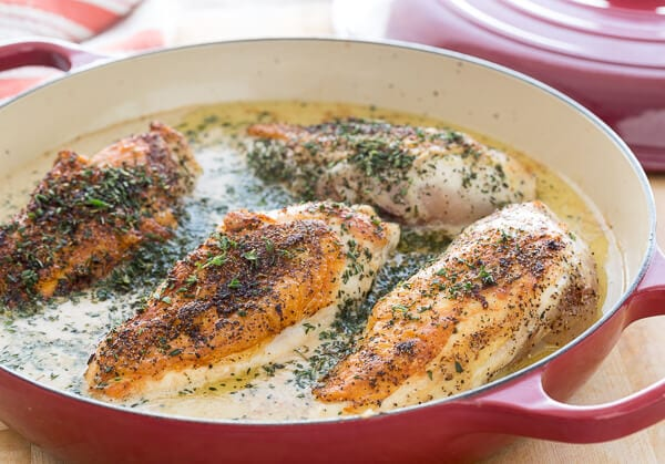 Braised Chicken with Cashew Gravy|AFoodCentricLife.com