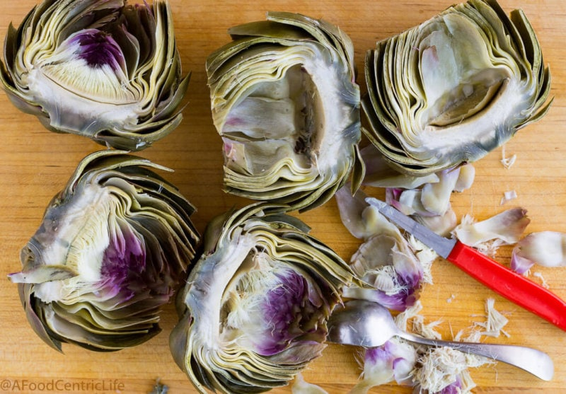 grilled artichokes|AFoodCentricLife.com