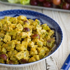 curried chicken salad | AFoodCentricLife.com