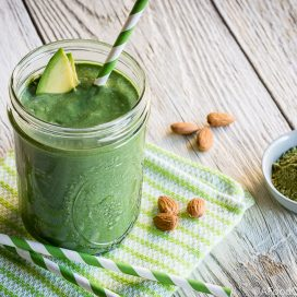 matcha avocado smoothie | AFoodCentricLife.com