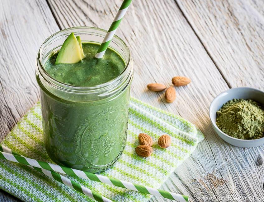 matcha avocado smoothie | AFoodCentricLife.com