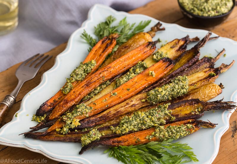whole roasted carrots | AFoodCentricLife.com
