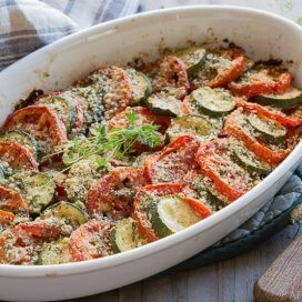 tomato zucchini casserole|AFoodCentricLife.com