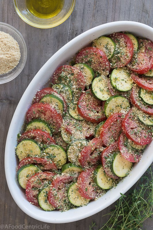 tomato zucchini casserole | AFoodCentricLife.com