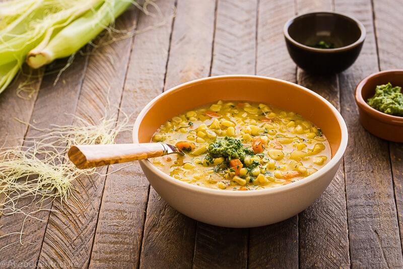 creamy corn chowder | AFoodCentricLife.com