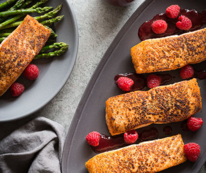 raspberry balsamic salmon | AFoodCentricLife
