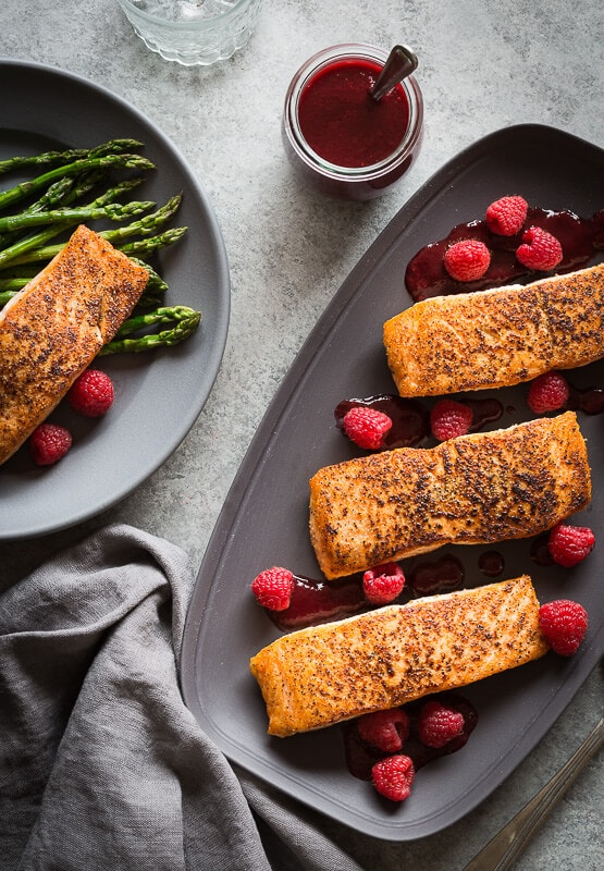 raspberry balsamic salmon   AFoodCentricLife