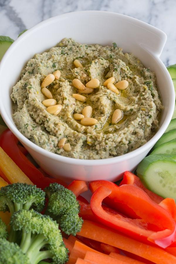 artichoke pesto dip | afoodcentriclife.com