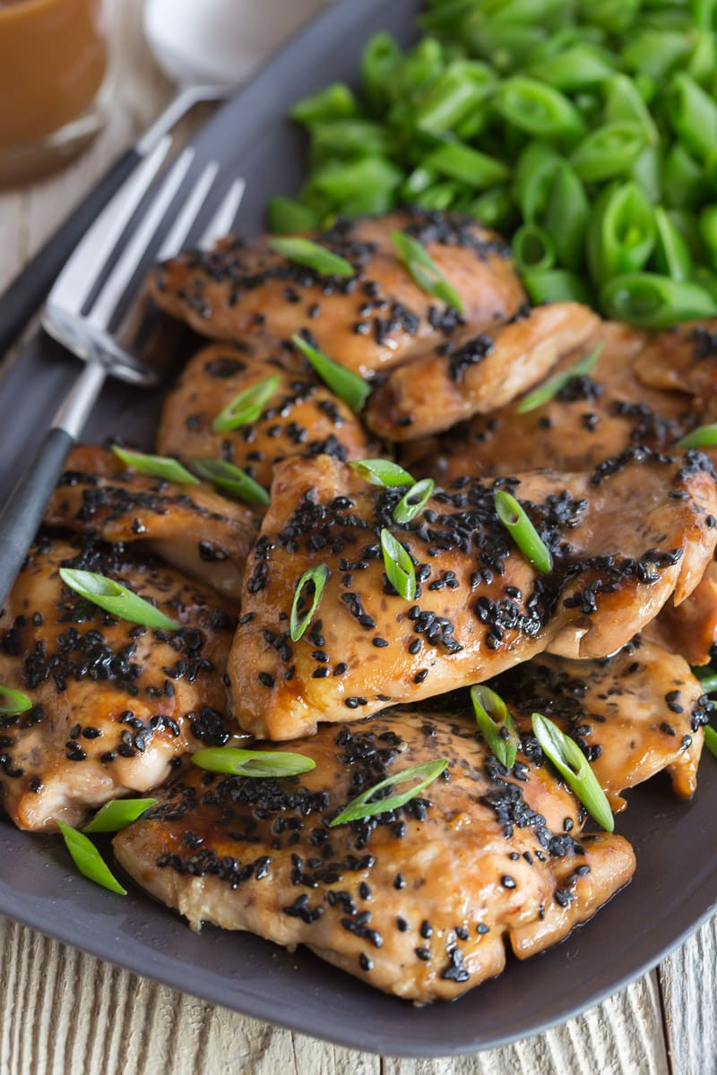 Teriyaki chicken thighs | AFoodCentricLife.com