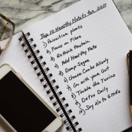 healthy habits for 2018 | AFoodCentricLife.com