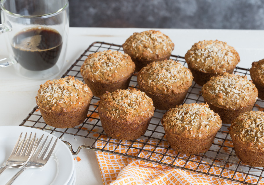 grain free carrot cake muffins | AFoodCentricLife.com