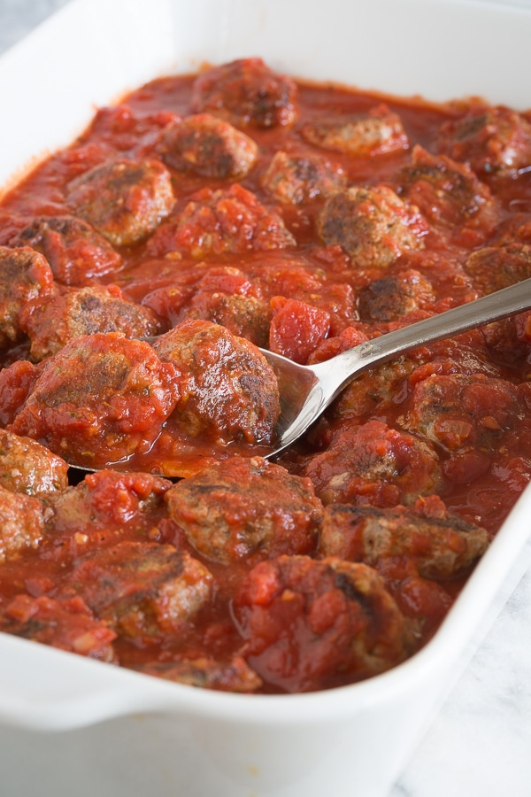 meatballs in a casserole | AFoodCentricLife.com