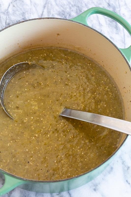 tomatillo salsa verde   afoodcentriclife.com