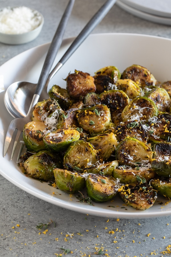lemon thyme brussels sprouts | afoodcentriclife.com