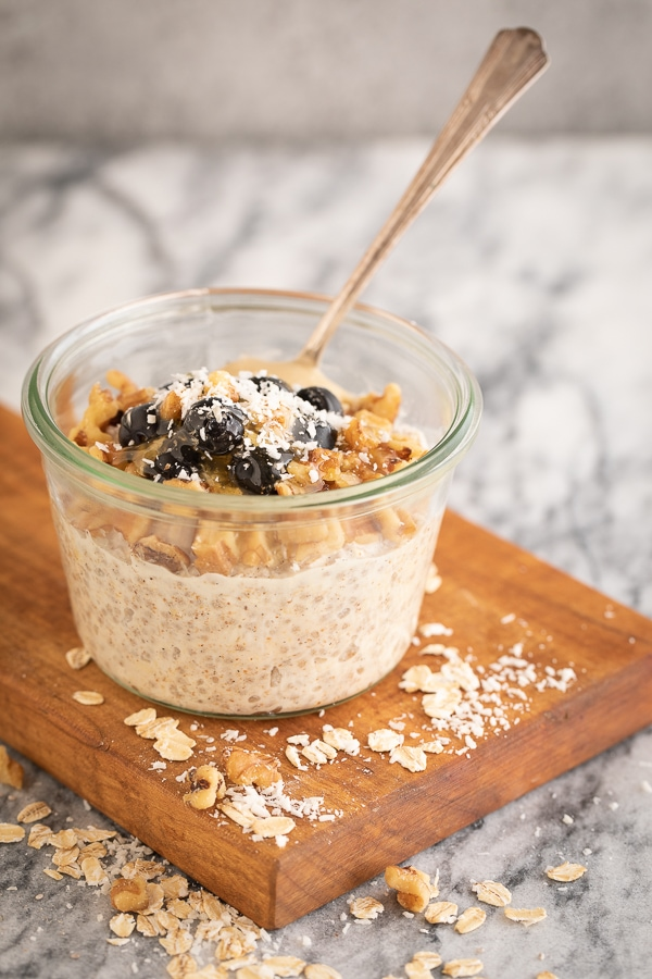vanilla chia overnight oats | afoodcentriclife.com
