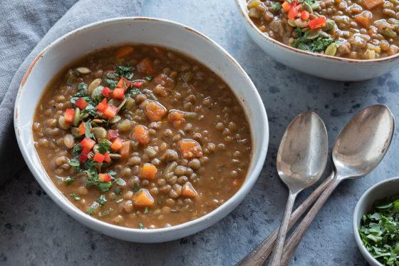 Instant Pot Vegetable Lentil Soup | afoodcentriclife.com