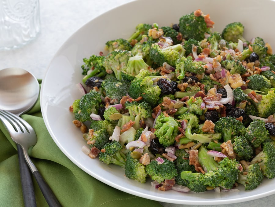 Crunchy Broccoli Bacon Salad | AFoodcentriclife.com
