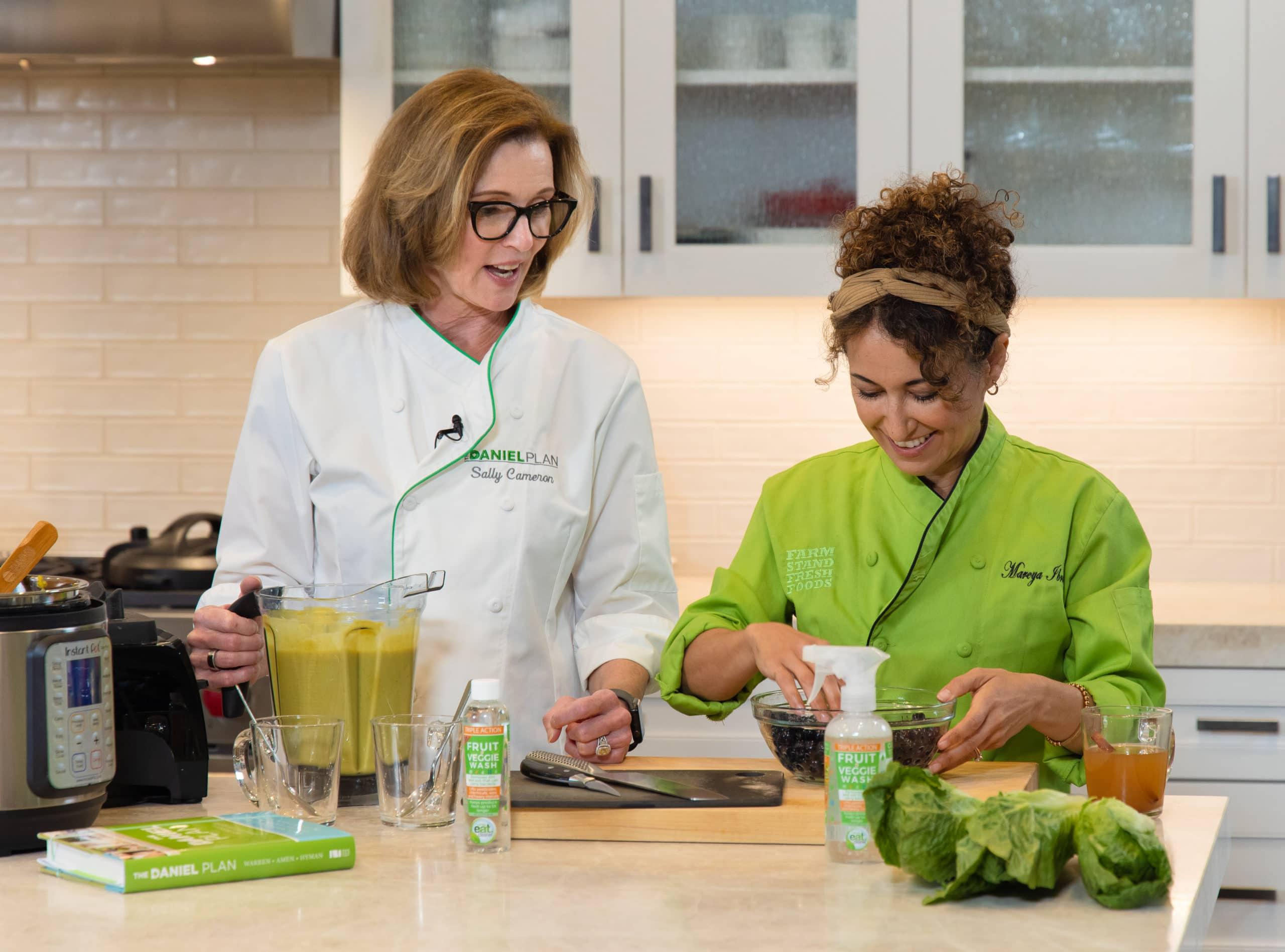 Chefs sally cameron and Mareya Ibrahim | Afoodcentriclife.com