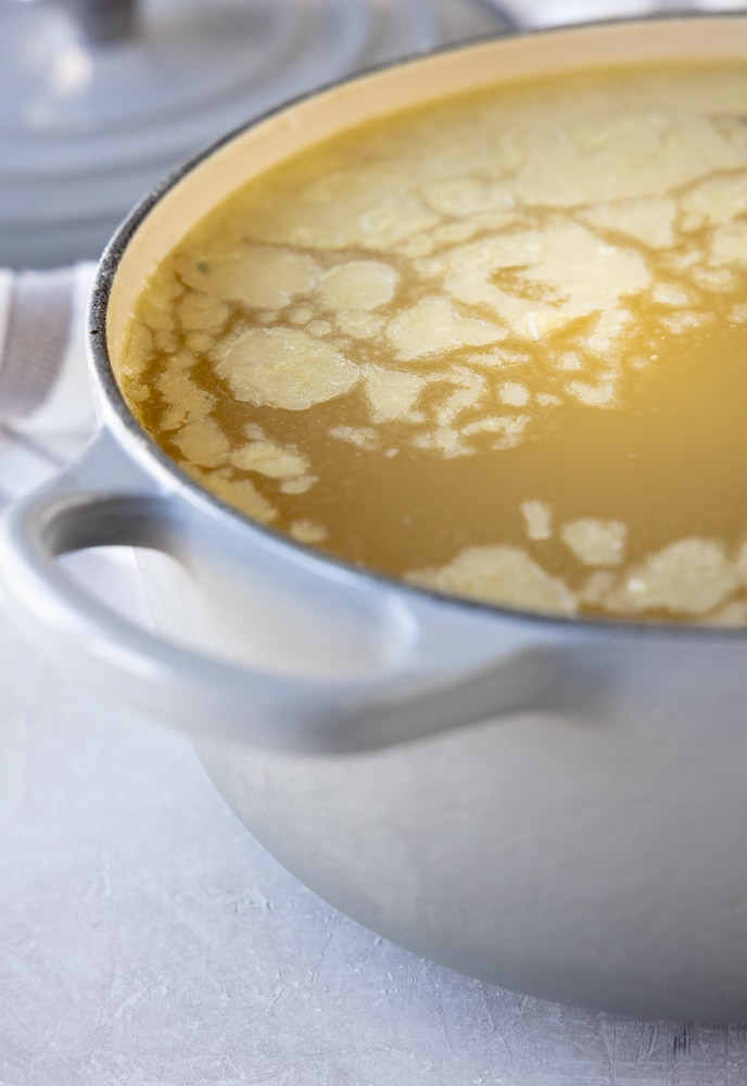 Instant Pot Chicken Broth | afoodcentriclife.com