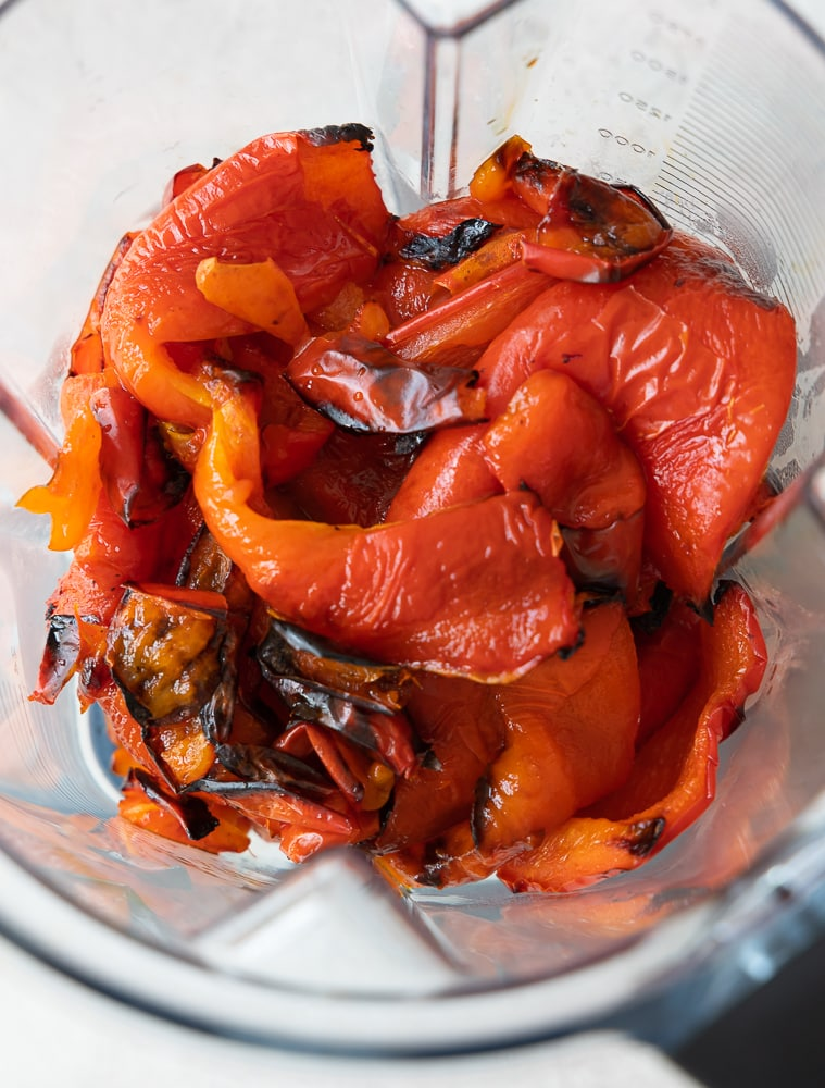 roasted pepper in a blender | afoodcentriclife.com